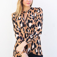 Lights Out Leopard Top