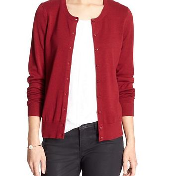 Banana Republic Womens Factory Forever Crew Neck Cardigan