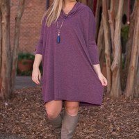 Casual Eyes On You Dress, Purple