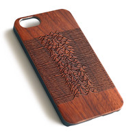 Joy Division Natural wood iPhone case laser engraved iPhone 7 6 6S Plus case WA069