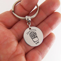 Fries before guys keychain, best friends key chain, funny quote gifts, quote keychain, fries before guys, best friend gift, french fries