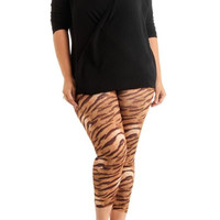 Women's Plus Size Tiger Ankle Leggings