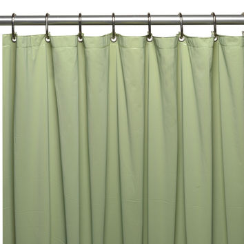 "Royal Bath Extra Wide 5 Gauge Vinyl Shower Curtain Liner with Metal Grommets In Sage, Size 72"" Wide x 84"" Long"