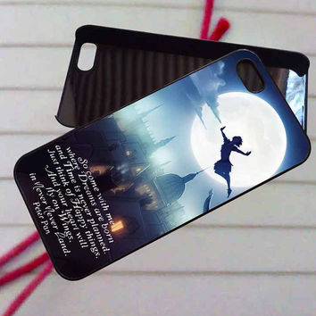 Peter Pan Quote on the Fly City Night - case iPhone 4/4s,5,5s,5c,6,6+samsung s3,4,5,6