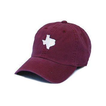 TX College Station Gameday Hat in Maroon by State Traditions