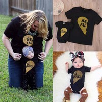 Summer Family Matching Outfits T-shirt/baby romper Family Look mother and daughter clothes Family Matching Outfits R2-16H
