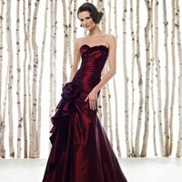 Perfect Ball Gown Strapless Taffeta Mother Dresses With Flowers And Ruffles
