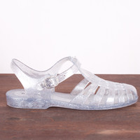 Jelly Sandals - Silver *Size 5 Only*
