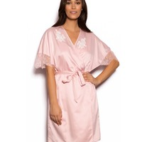 Blush Satin Wrap - Blush Pink