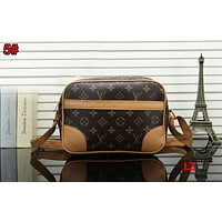 LV Newest Popular Women Louis Vuitton Monogram Leather Shoulder Bag Crossbody Satchel