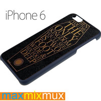 Bring Me The Horizon Coffin The House Quote Lyric iPhone 6/6+ Series Hard Case