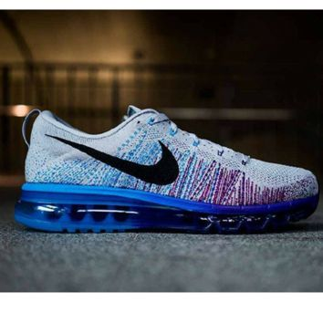 """NIKE"" Trending Fashion Casual Sports Shoes Gradient knit White-blue purple"