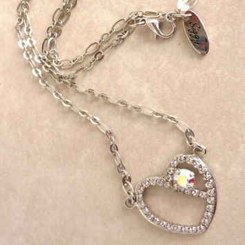 Swarovski SWEETHEART crystal necklace, heart pendant, sweet 16 heart, Made with CRYSTALLIZED™ - Swarovski Elements, Not sabika