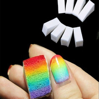 8pcs Gradient Nails Soft Sponges for Color Fade Manicure Nail Art Accessories (Size: 2.5cm by 5cm by 2cm) = 5658854081
