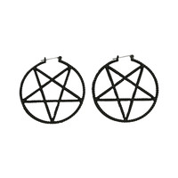 LOVEsick Pentagram Hoop Earrings | Hot Topic