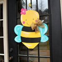 Spring Door Hanger Summer Door Decor Bumblebee by LooLeighsCharm