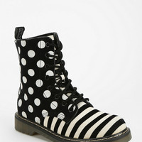 Urban Outfitters - B By Aperire Polka Stripe Lace-Up Boot