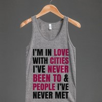 I'M IN LOVE WITH CITIES I'VE NEVER BEEN TO TANK TOP PINK BLK ID7020015