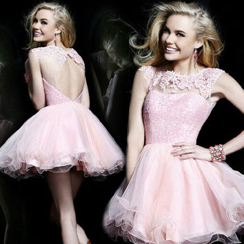 HOT SHINING NET SHORT DRESS WEDDING DRESS