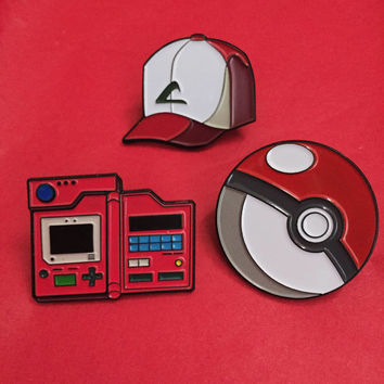 Pokedex (Kanto Region) - Pokemon Collectible Enamel Pin