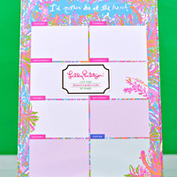 LILLY PULITZER: List Pad - Scuba to Cuba