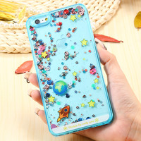 i5 SE Case Transparent Hard Back Cover For Apple iphone 5 5S 5G SE Dynamic Liquid Colorful Beads Phone Cases For iphone 5 SE