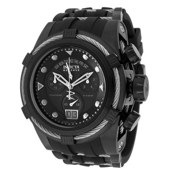 Invicta 12298 Mens Bolt Zeus Reserve Chronograph Black Dial Black IP Steel Dive Watch