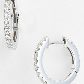 Women's Bony Levy Diamond Hoop Earrings - White Gold (Nordstrom Exclusive)