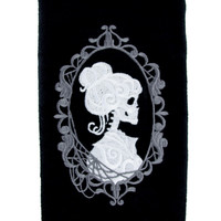 Haunted Mansion Hers Skeleton Halloween Hand Towel Kitchen and Bath Gothic Home Decor