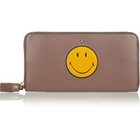 Anya Hindmarch - Smiley textured-leather continental wallet