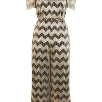 Zig Zag Plisse Jumpsuit - Rompers & Jumpsuits - Clothing