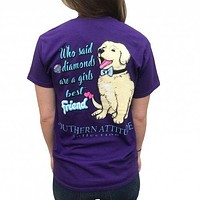 Southern Attitude Preppy Diamonds Are A Girls Best Friend T-Shirt