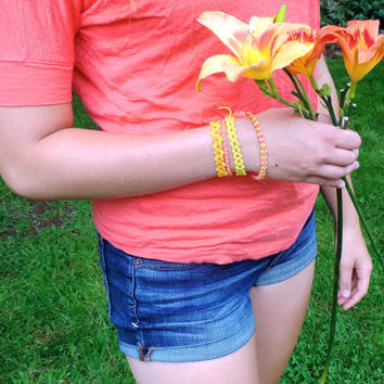 Friendship Bracelet Set - Summer Theme - Handmade
