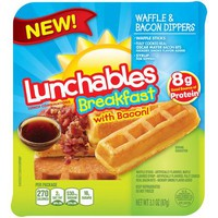 Lunchables Breakfast with Bacon! Waffle & Bacon Dippers, 3.1 oz - Walmart.com