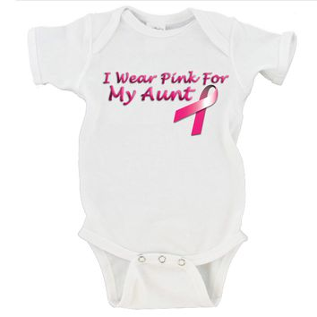 I Wear Pink For My Mom / Aunt / Grandma / Sister Gerber Onesuits ®
