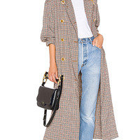 Free People Melody Menswear Trench Coat in Neutral Combo