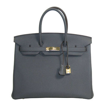 Hermès Etain Togo Leather Birkin with Gold Hardware