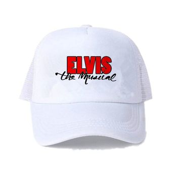 Trendy Winter Jacket Vintage Elvis Presley Cap Elivis Rock N Roll Trucker Hat Elivis Graceland Snapback Hat EP Figure Dancing Hip Hop Cap Hat YY458 AT_92_12