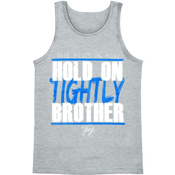 Plot In You Men's  Hold On Tightly Mens Tank Grey Rockabilia