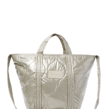 See by Chloe Women's Large Fabric Satchel - Silver