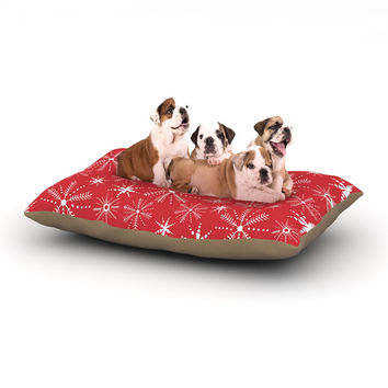 "Julie Hamilton ""Snowflake Berry"" Holiday Dog Bed"
