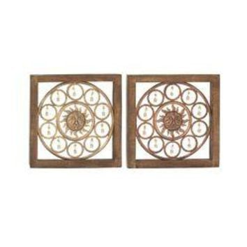 Delightful Assorted 2 Wood Metal Wall Panel