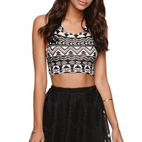LA Hearts Sunflower Crochet Skirt - Womens Skirt -