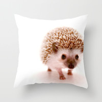 Hedgehog Throw Pillow by Derek Doi