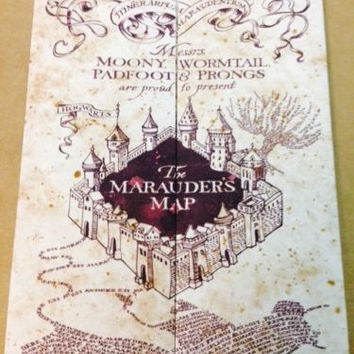 Marauder's Map Hogwarts Wizarding World Harry Potter Warner Bros LIMITED