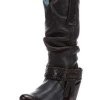 Corral Women's Black Python Europa Slouch Boot