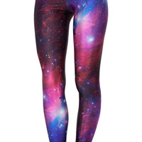 Womens Sexy Stretch Galaxy Print Leggings