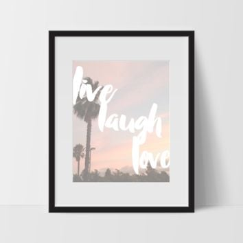 Motivational Wall Art, Street Sunset, Live Laugh Love, Dorm Room Art, For The Home, Minimalist