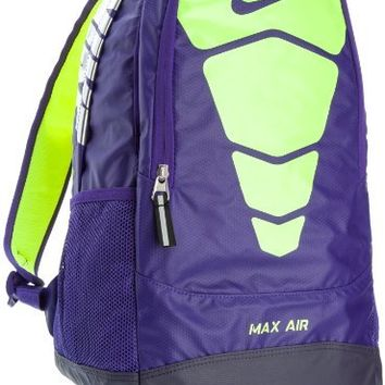 Nike MAX AIR Unisex Vapor Backpack Bookbag Purple-Neon Green (BA4729-565)