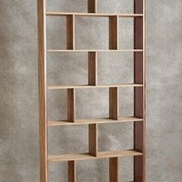 Rose Glass Tall Bookcase by Tracey Boyd Neutral Tall Bookcase House & Home